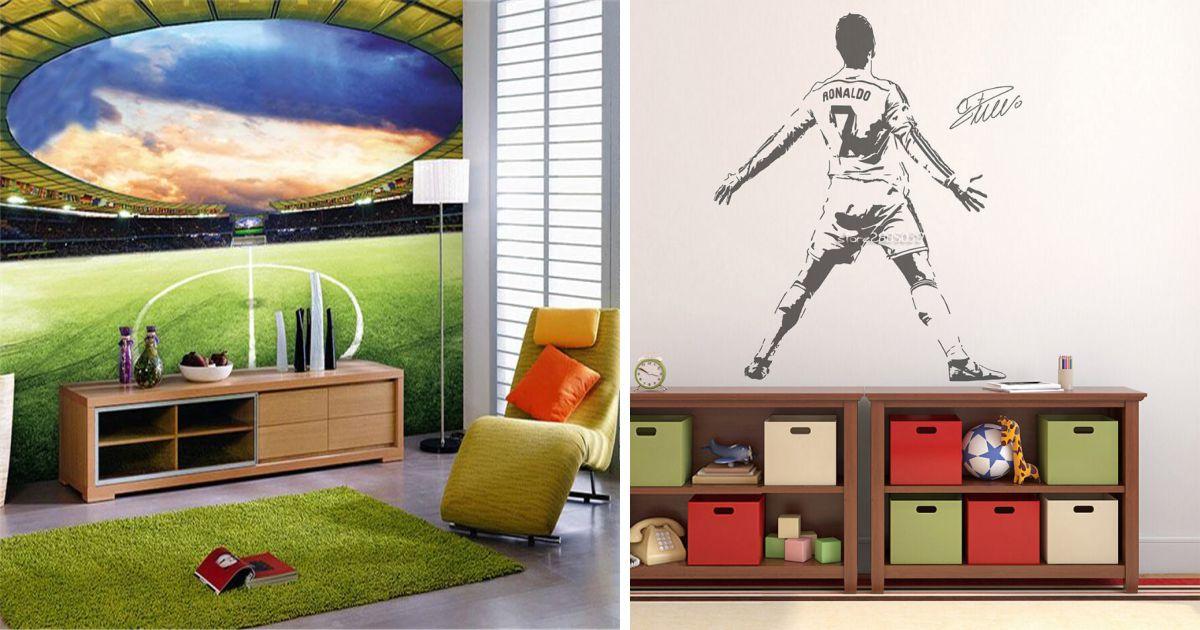 papel de parede quarto infantil futebol