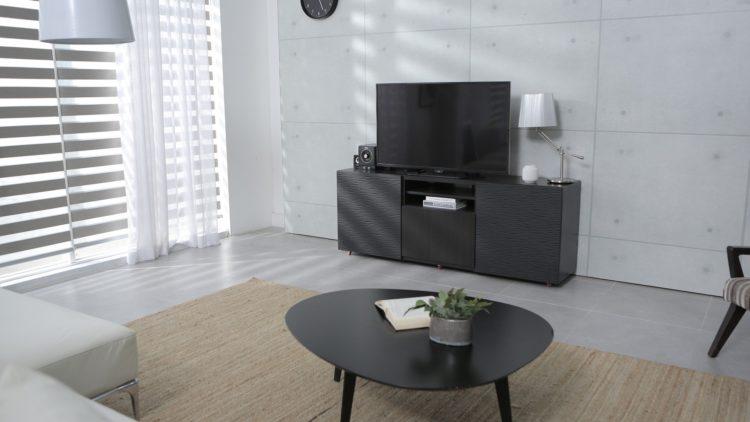 papel de parede para sala com painel de TV